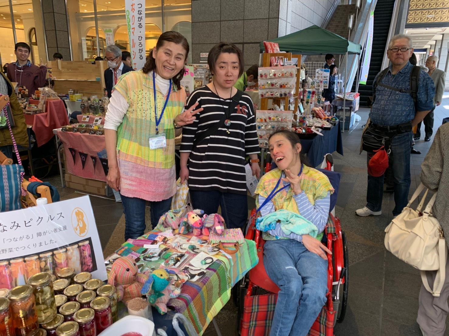 熊本市の障がい者マルシェに参加してきました。